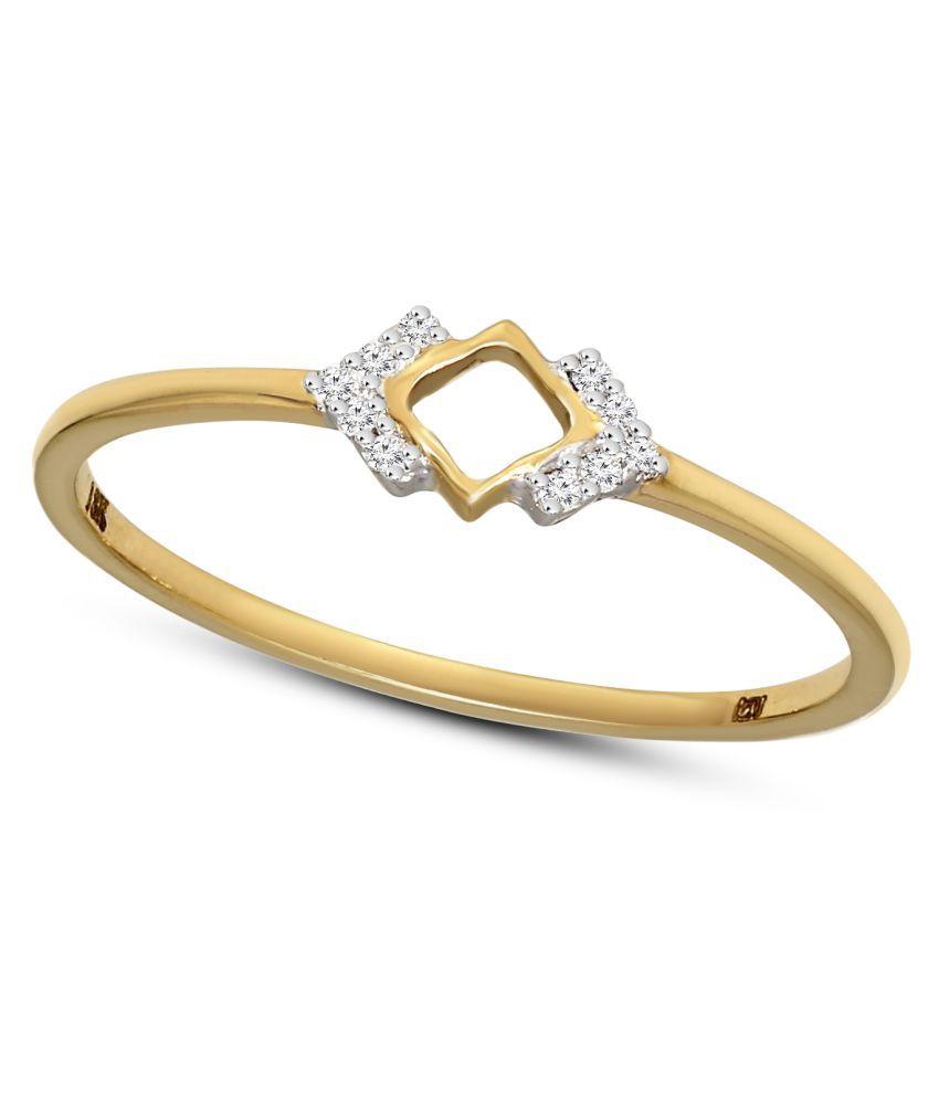 Sparkles 18k Yellow Gold Diamond Band Ring