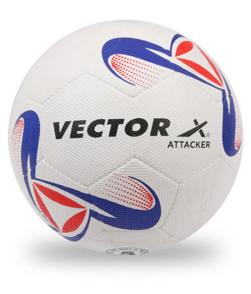 Vector X Attacker Moulded White Football Size- 5