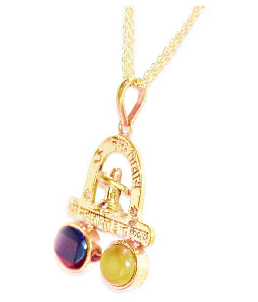 Kaal sharp yog niwaran kavach pendant with 100% Original gemstones / Original Cat's Eye and Hessonite stones / to overcome bad influences of Rahu Ketu / Genuine product