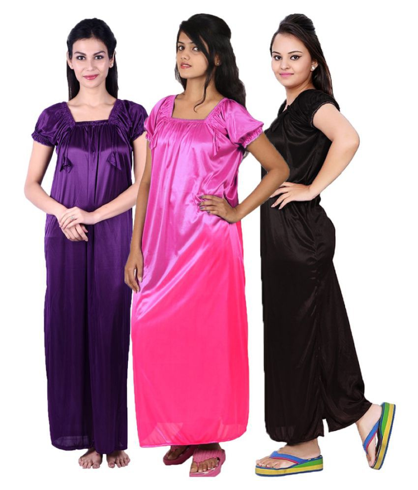 Gospel Satin Night Dress - Multi Color