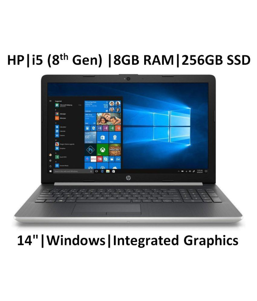 HP 14s cf1004TU 14-inch Laptop (8th Gen Core i5-8265U/8GB/256GB SSD/Windows 10/Integrated Graphics), Natural Silver