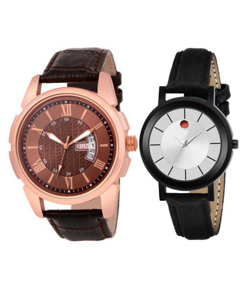 Herita Enterprise men and women analogue stylish fashionalble couple watch pack of 1 with 1364956591
