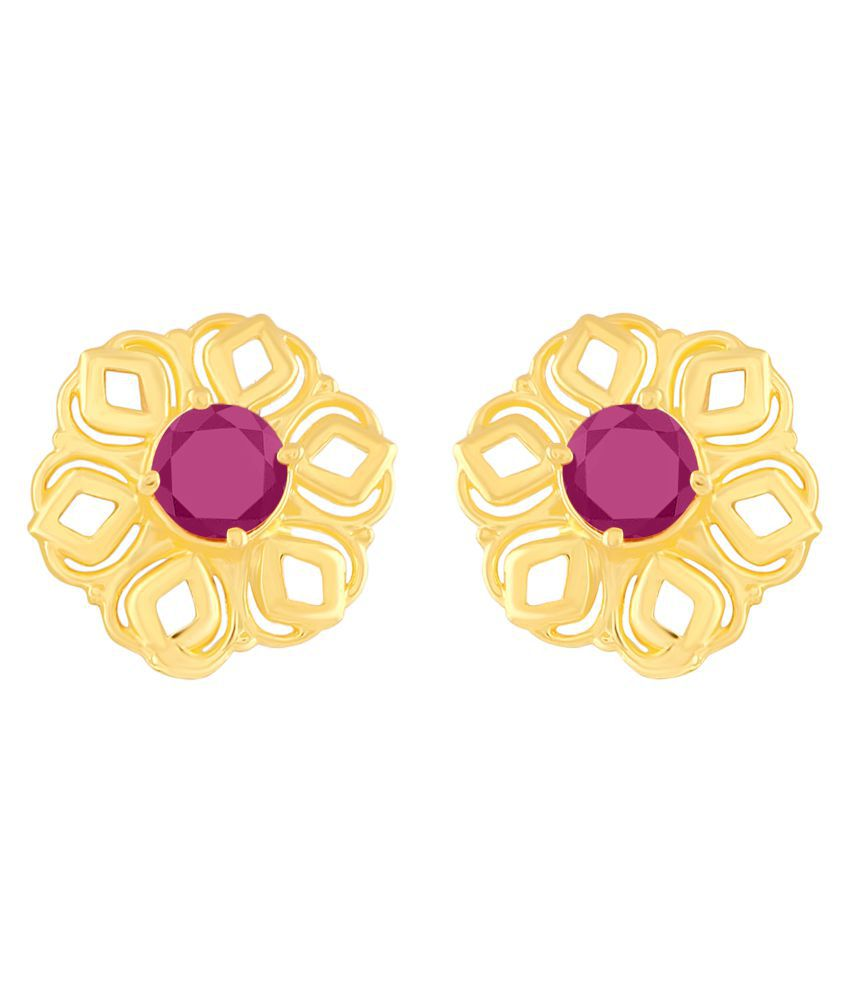 MFJ Fashion Jewellery Enjoyable Brass Gold Plated Stud Earring For Women