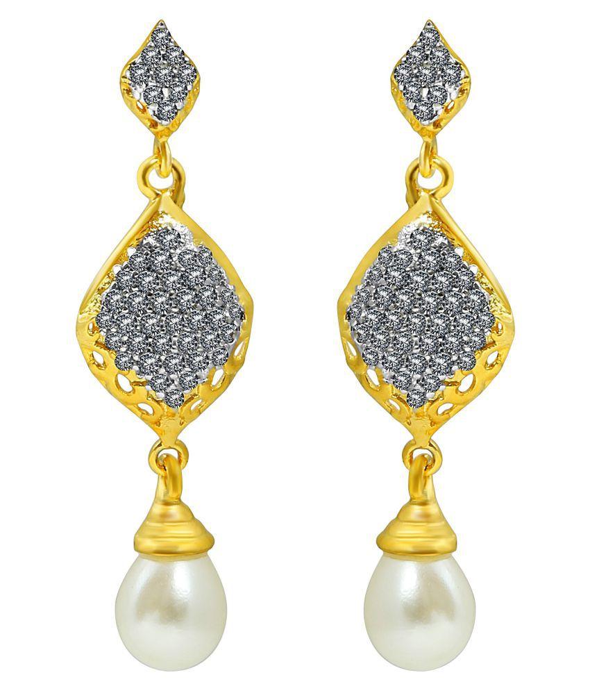 MFJ Fashion Jewellery Unbelievable Brass Gold Plated Dangle Earring For Women