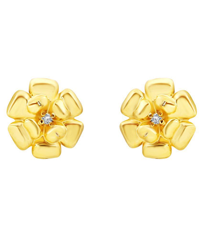 MFJ Fashion Jewellery Youthful Brass Gold Plated Stud Earring For Women