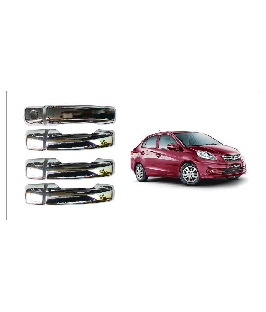 Trigcars Honda Amaze Old Car Door Handel Latch Chrome Plated Cover Set Of 4 Pcs + Free Car Bluetooth