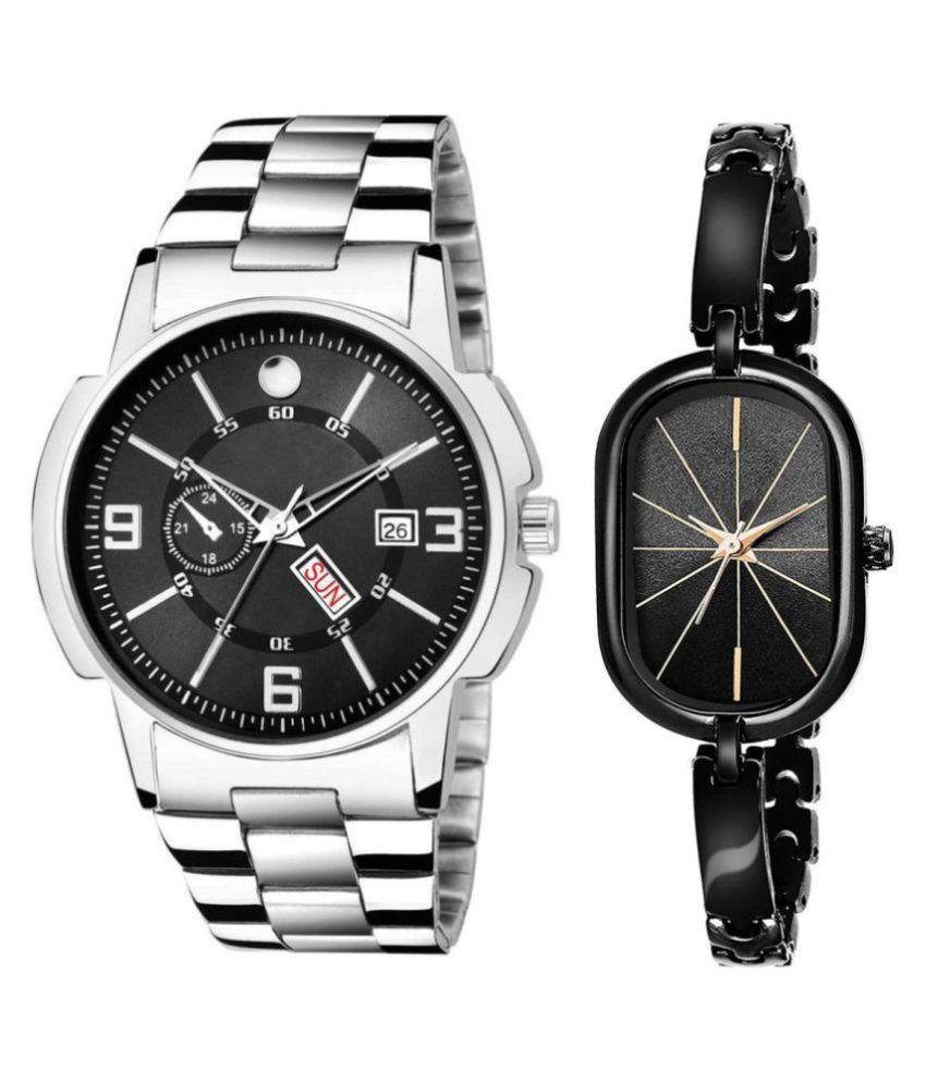 Vrutti enterprise men and women analogue stylish fashionalble couple watch pack of 1 with 1364956648