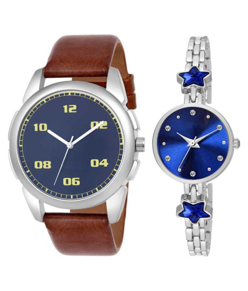 vasant impex men and women analogue stylish fashionalble couple watch pack of 2 with 1364956674