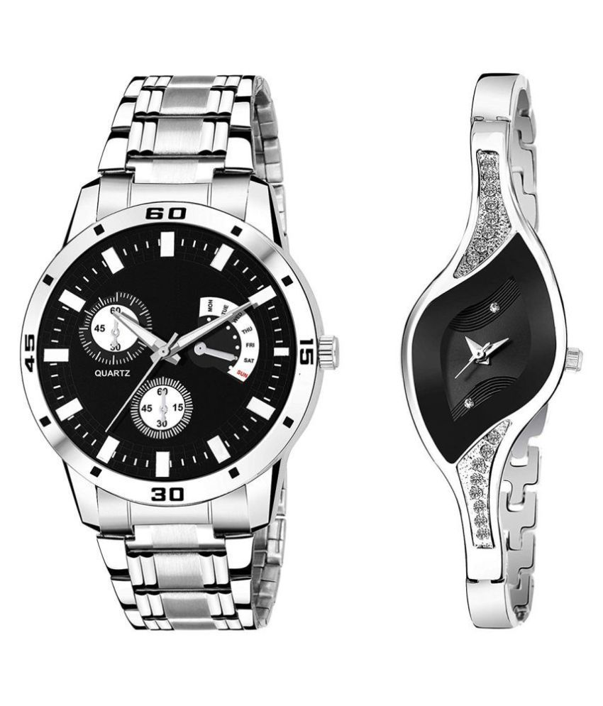 vasant impex men and women analogue stylish fashionalble couple watch pack of 1 with 1364956656