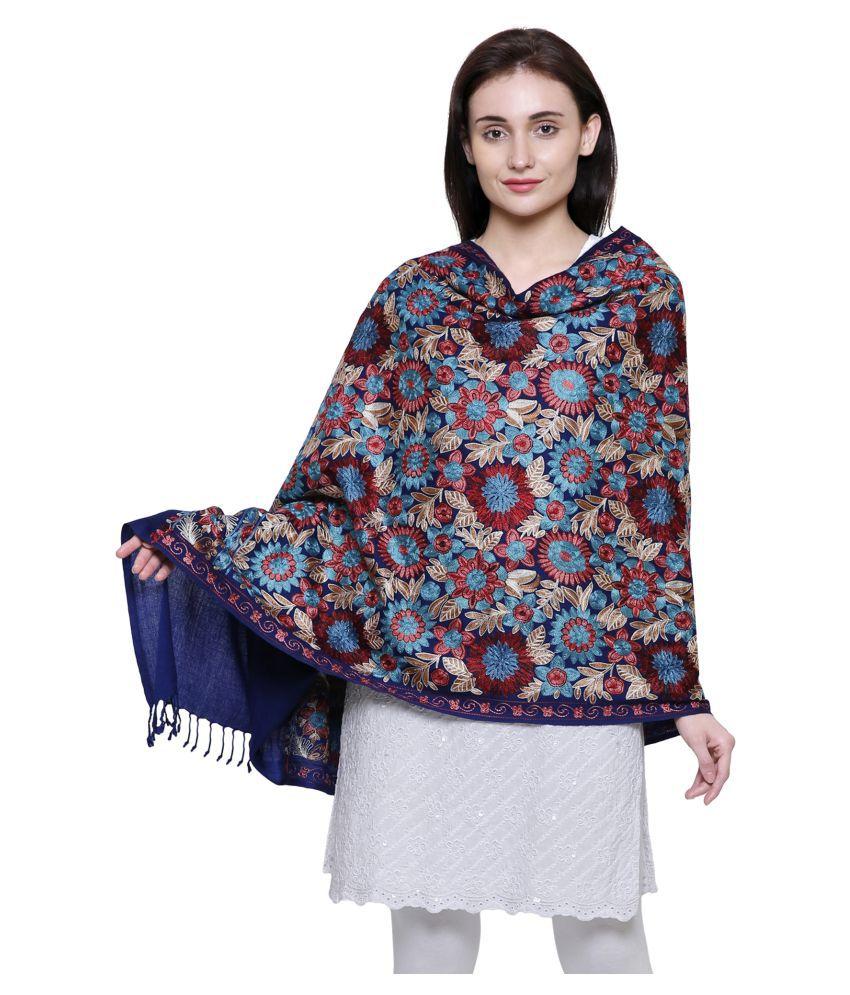 Anekaant Blue Ari Embroidery Shawl