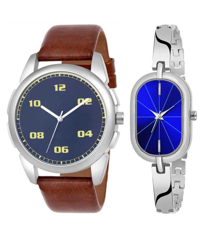Vrutti enterprise men and women analogue stylish fashionalble couple watch pack of 2 with 1364956678
