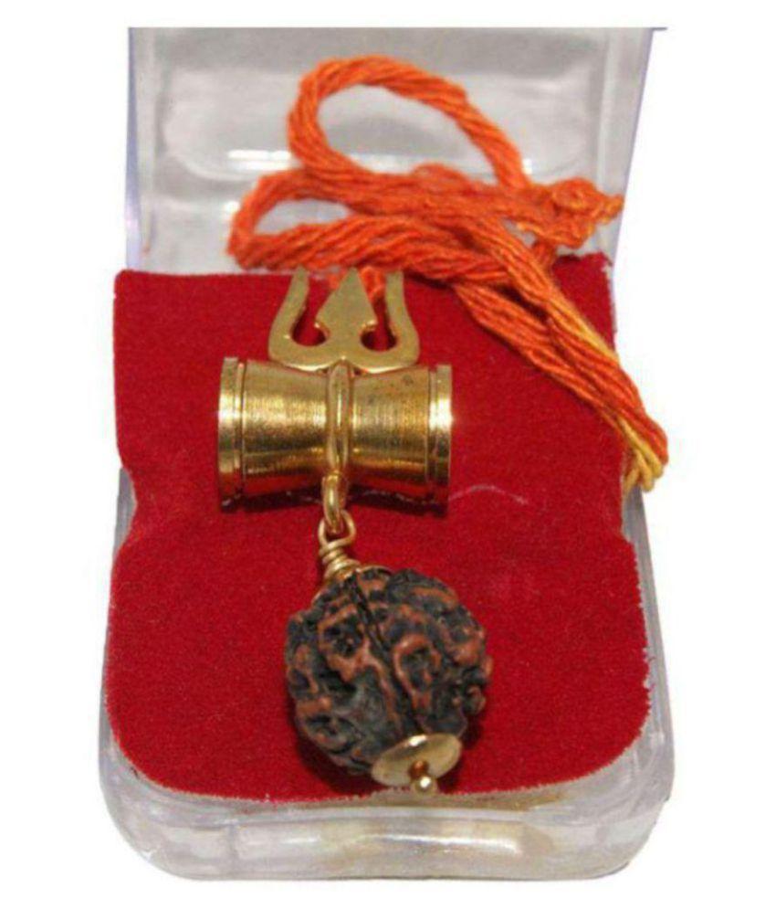 Green Spiritual Orginal Shiv Shakti Kawach With 5 Face Rudraksha- Pack Of 1