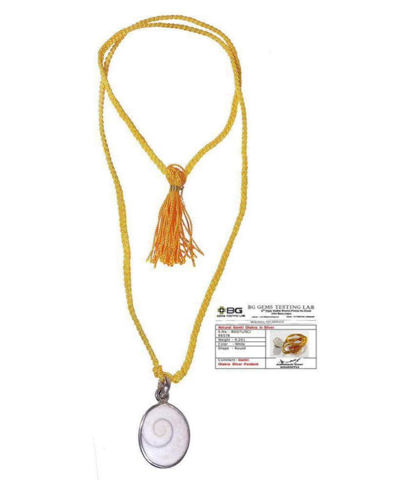 Gomati Chakr.a Pendant In 95% Silver Energised With Lab Certification For Unisex