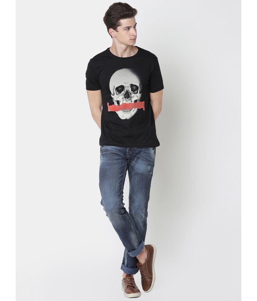 Newport Black Half Sleeve T-Shirt