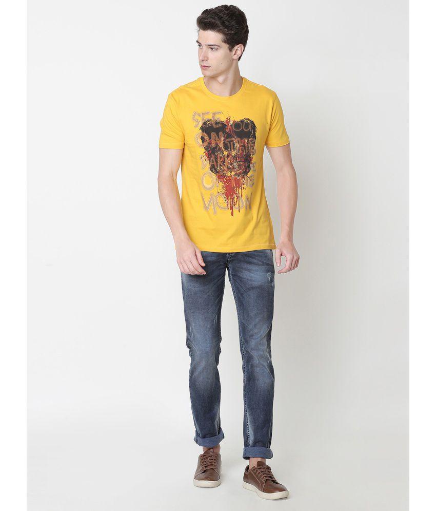 Newport Gold Half Sleeve T-Shirt