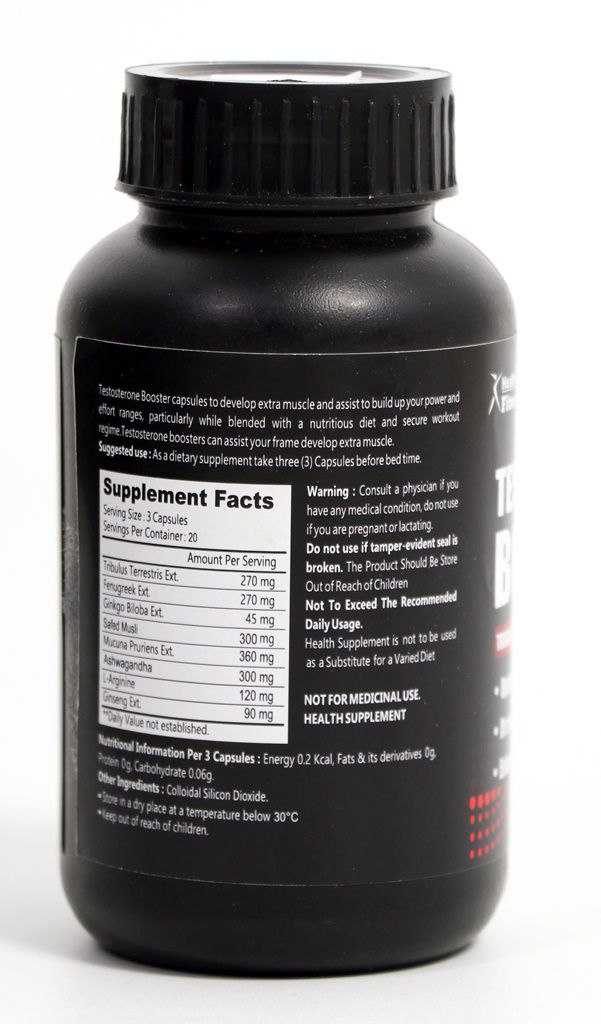 Healthvit Fitness Testosterone Booster 60 Capsules: Buy Healthvit Fitness Testosterone Booster
