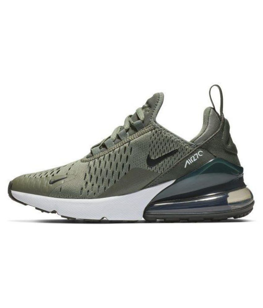 3415b16827 NIKE AIR 270 Olive Running Shoes Price in India- Buy NIKE AIR 270 Olive  Running Shoes Online at Snapdeal