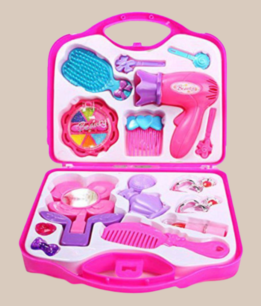 ee0dd2bf1557 Little Girls Pretend Makeup Kit Cosmetic Pretend Play Set Kids Beauty Salon  Makeup Set Toy for Children Best Gift Set with Mirror