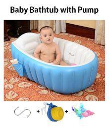Cho Cho Blue Inflatable Baby Bath Tub with Pump