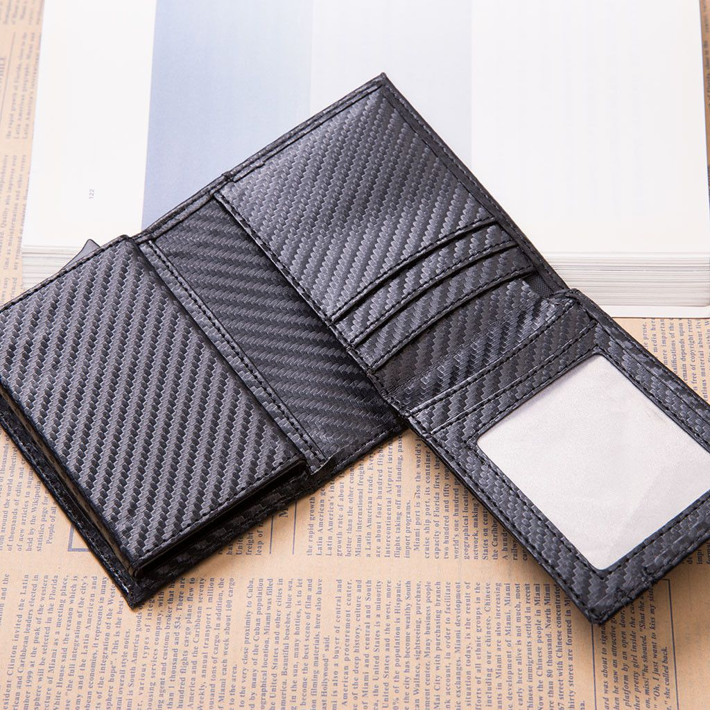 Pouches Bags and Storage for Your Fashion Needs Black Anti Theft Card package Credit Card Bank Card Carbon Fiber Card Package