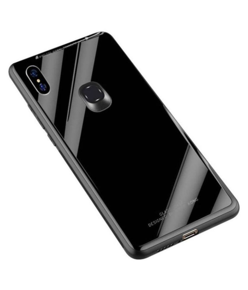 Xiaomi Redmi 6 Pro Glass Cover Kosher Traders - Black 360°  Luxurious Toughened Glass Back Case