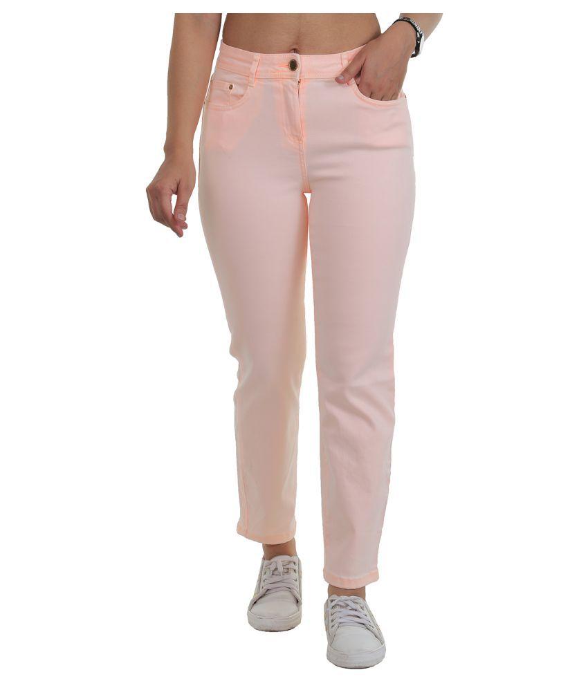 Timbre Cotton Lycra Jeans - Pink
