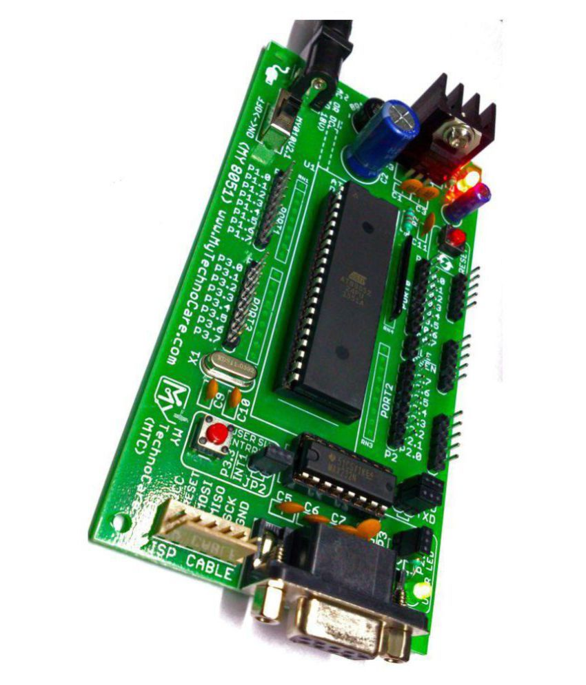 8051 Microcontroller Development Board Project Evaluation Kit   Max232 Atmel At89s52 Ic Support