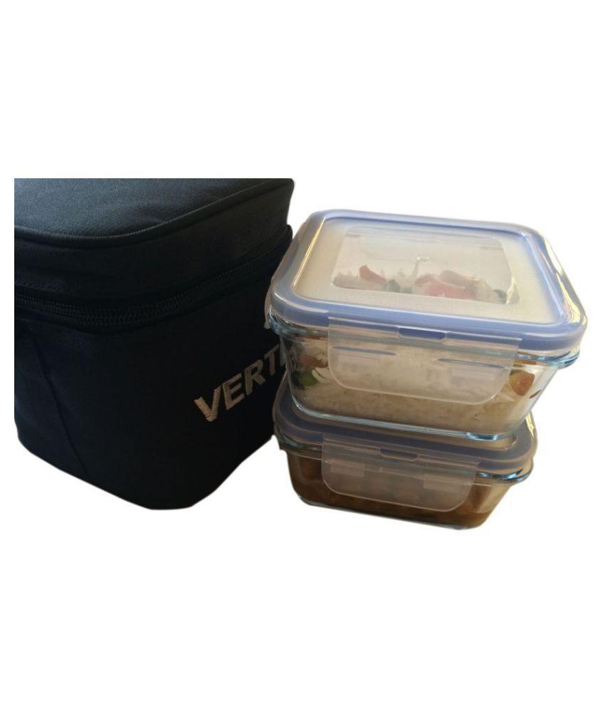 Vertis Light Blue Glass Lunch Box