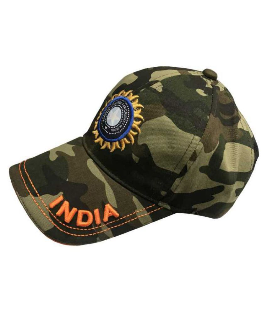 ee513f5af TyranT Army Caps for Men and Women | Team India Cricket Sports Military  Caps for Men Women Adjustable Summer Baseball Cap (Khaki)