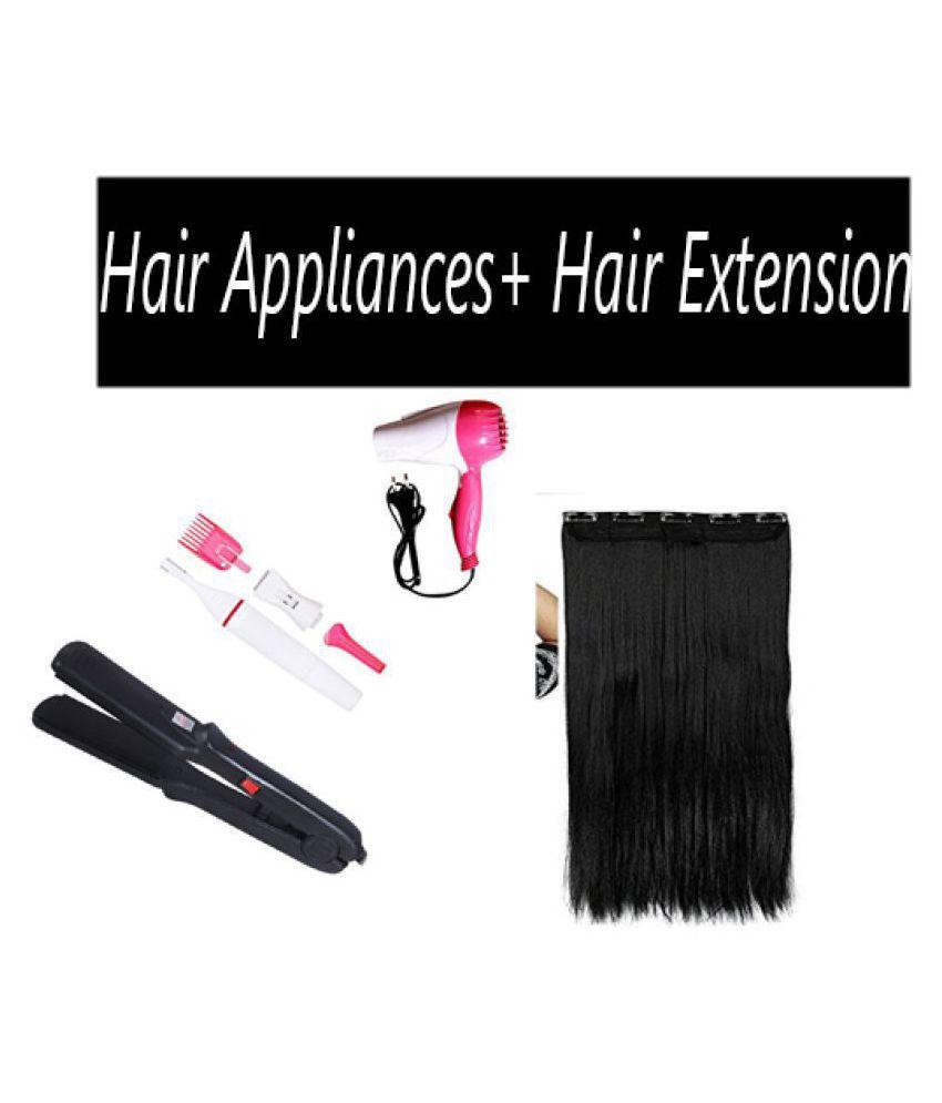 blushia Dryer+Trimmer Hair Straightener ( Multicolor )