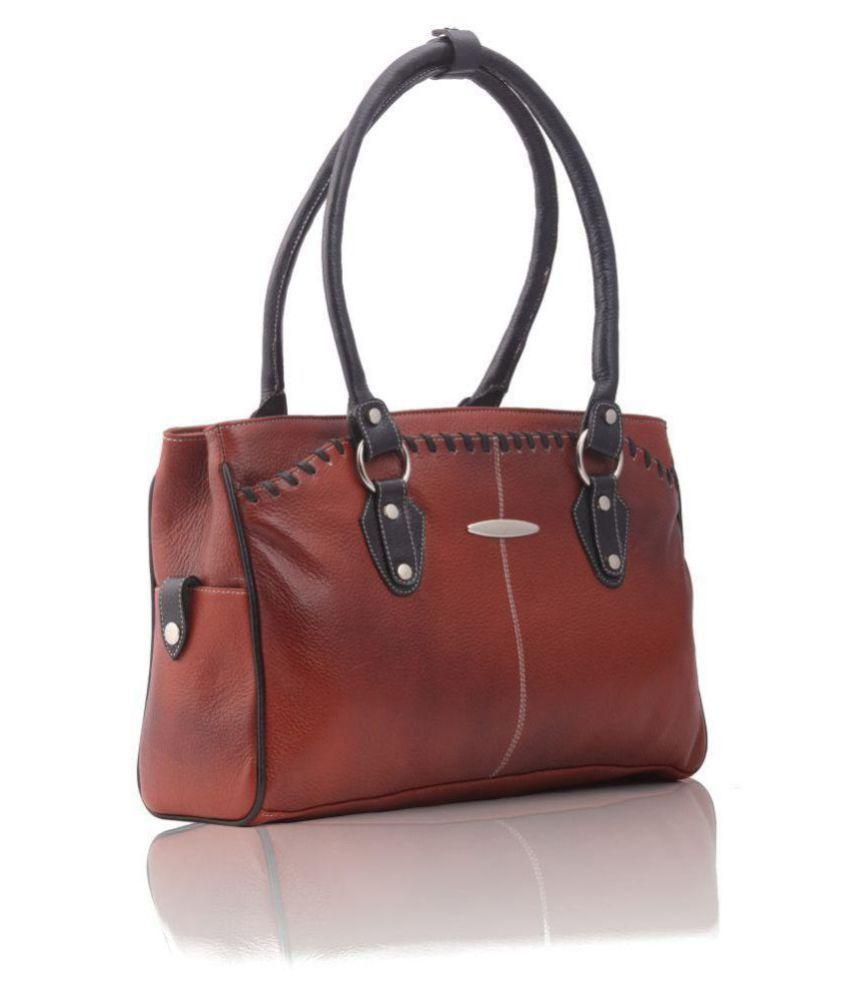 Musqari Tan Pure Leather Shoulder Bag