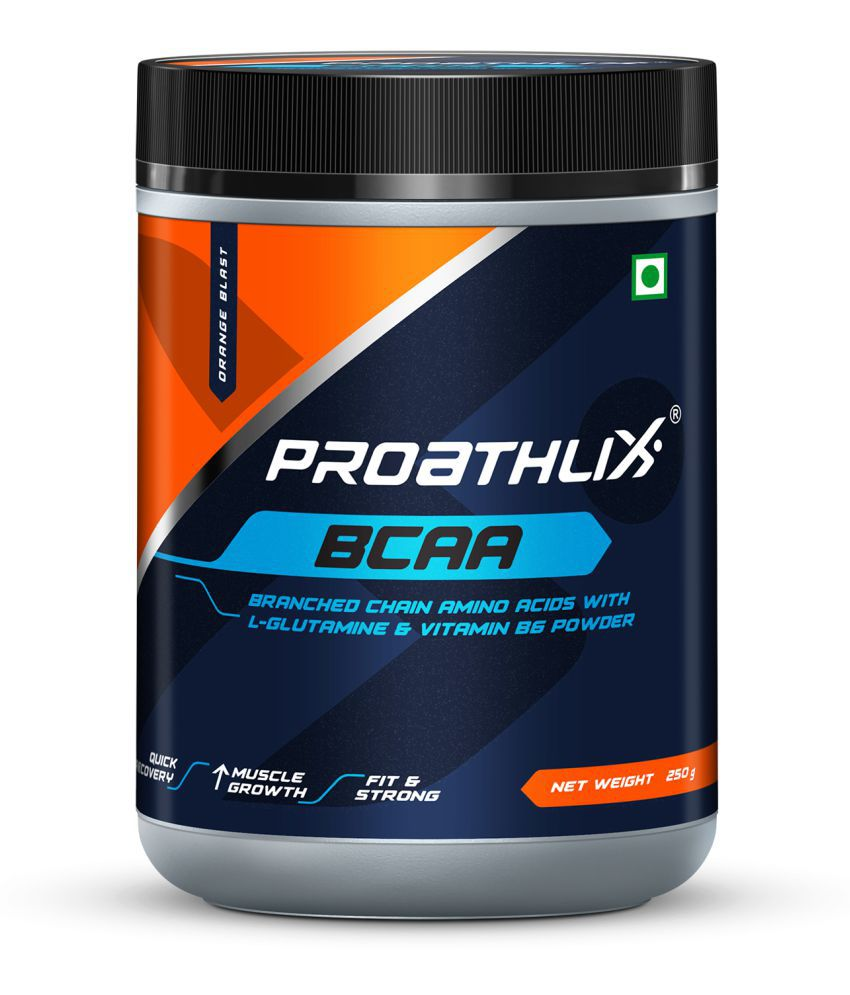 Proathlix BCAA With L-Glutamine &  Vitamin B6 250 gm