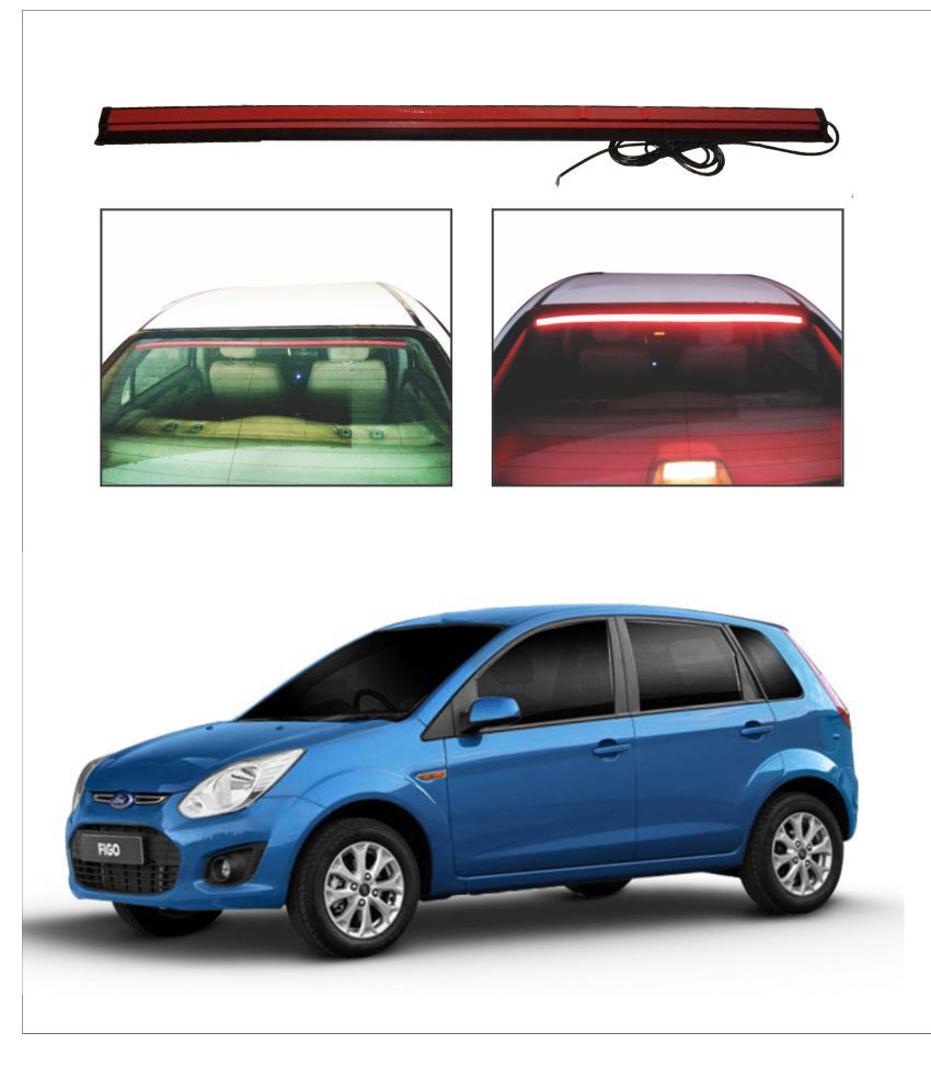 Trigcars Ford Figo Old Roof line LED Third Brake Light Kit Above Rear Windshield