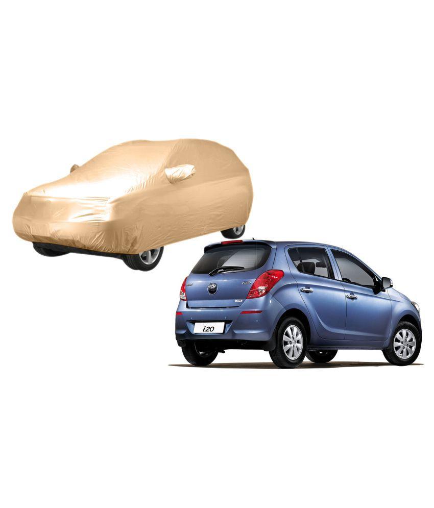 Alexus Car Cover for Hyundai i20 (Mirror Pockets) (Beige)