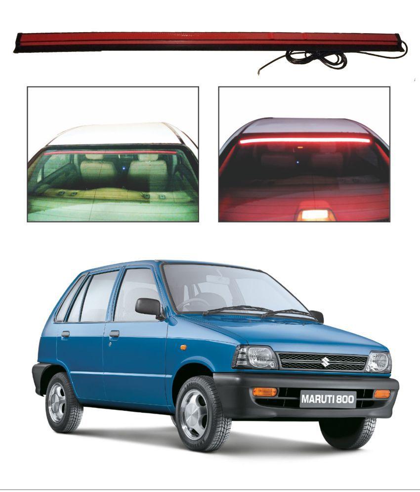 Trigcars Maruti Suzuki 800 Roof line LED Third Brake Light Kit Above Rear Windshield