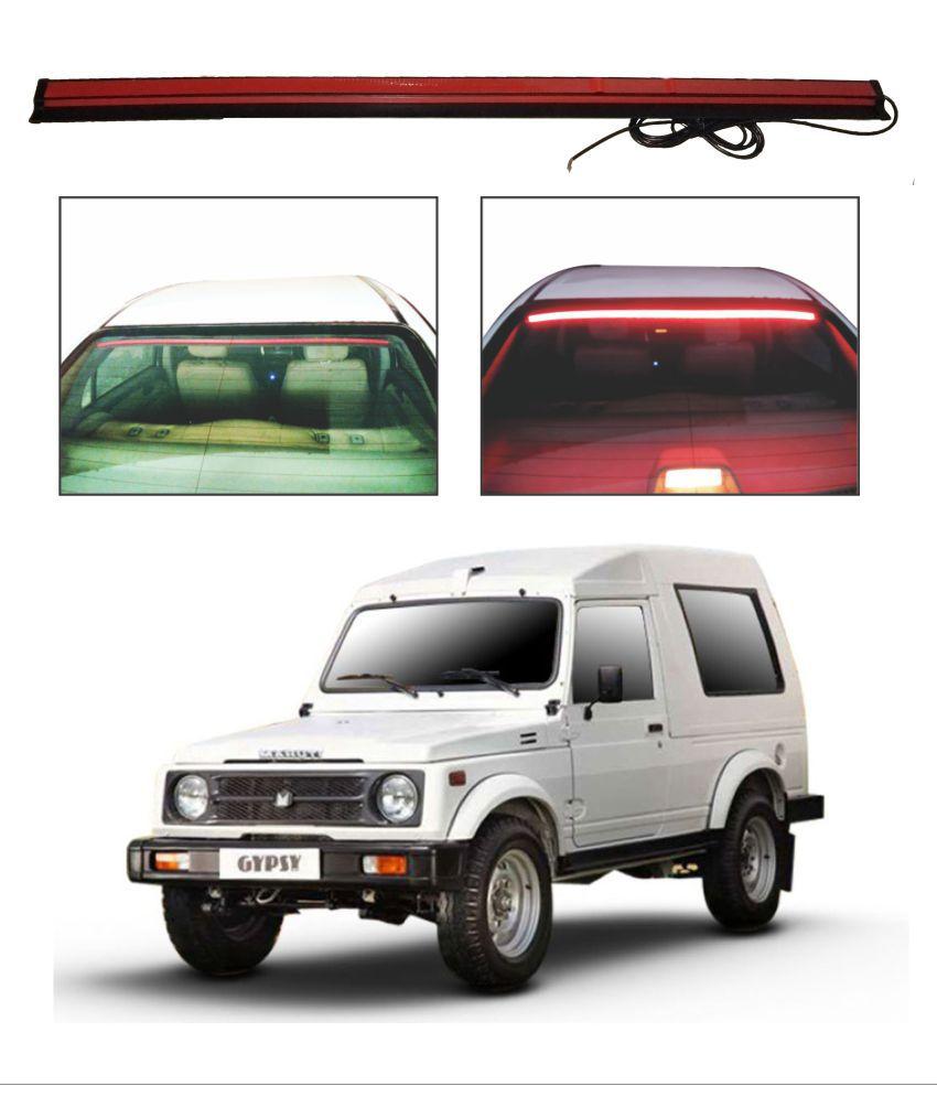 Trigcars Maruti Suzuki Gypsy Roof line LED Third Brake Light Kit Above Rear Windshield