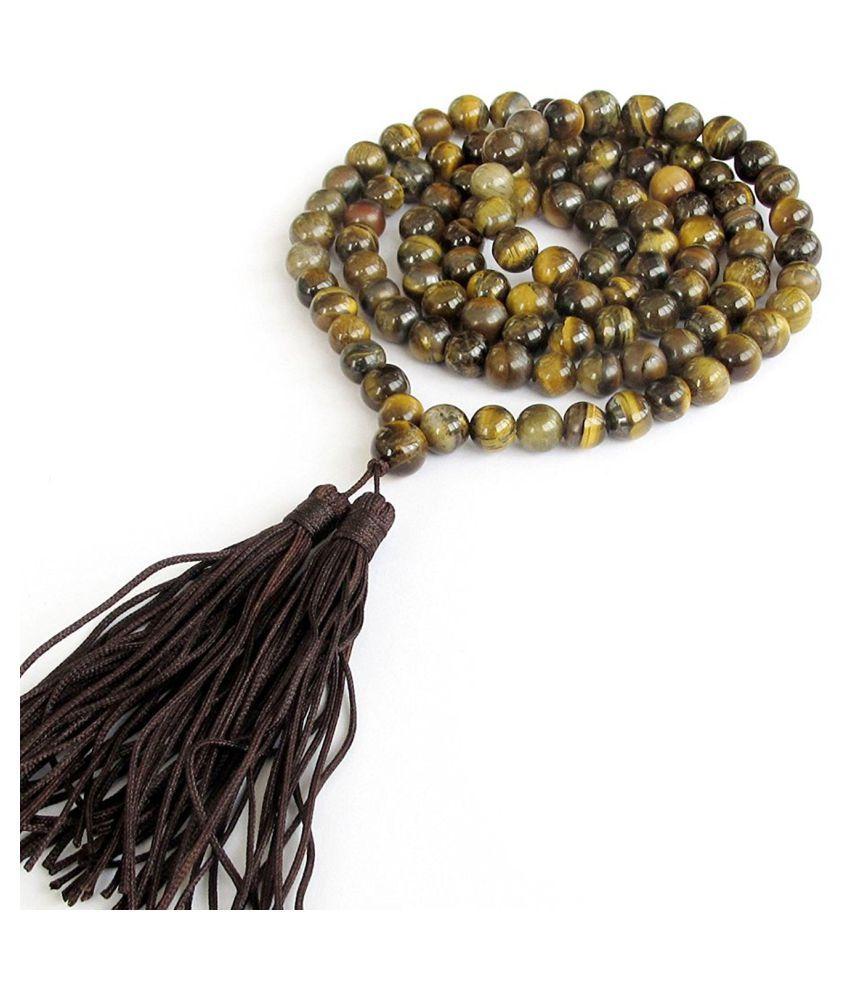 High-Energy Tigers Eye 108 beads Mala