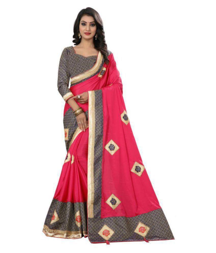 ofline selection Beige,Pink,Blue,Red Silk Saree