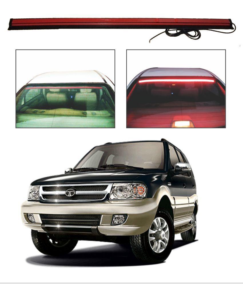 Trigcars Tata Safari Dicor Roof line LED Third Brake Light Kit Above Rear Windshield