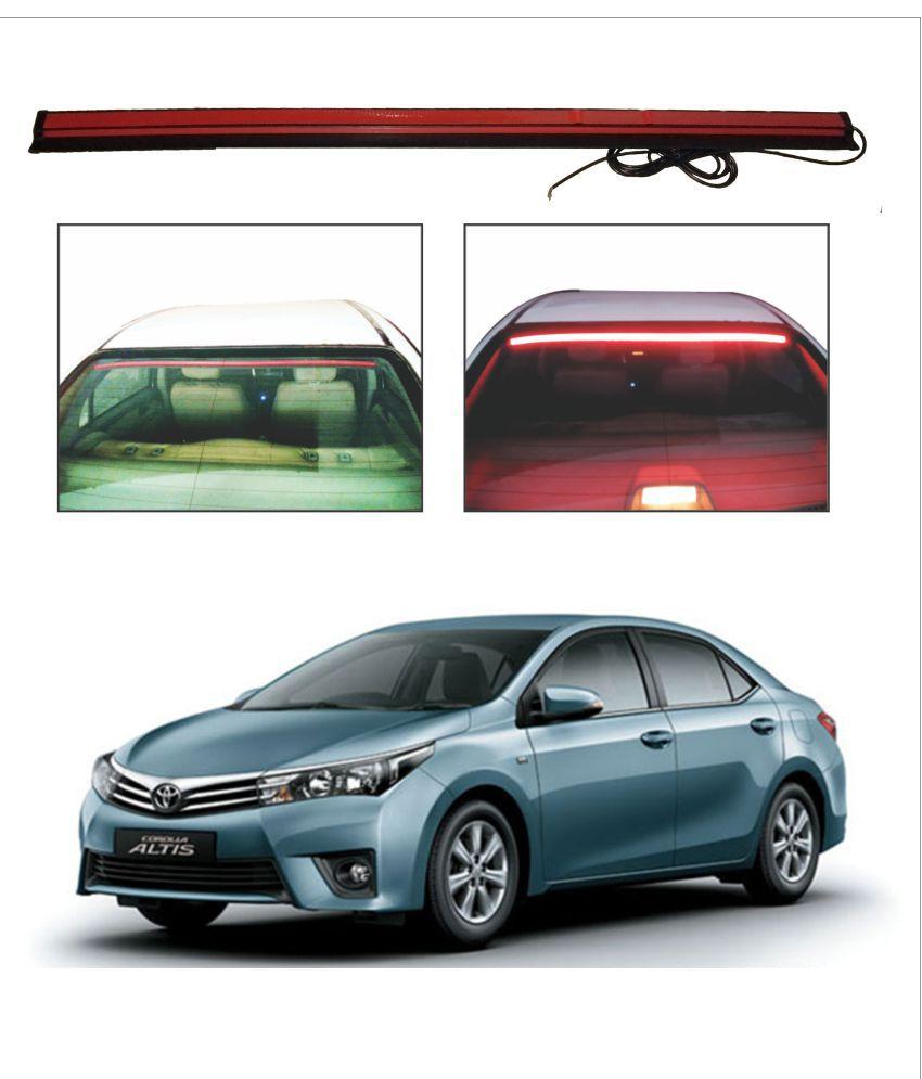 Trigcars Toyota Corolla Altis Roof line LED Third Brake Light Kit Above Rear Windshield