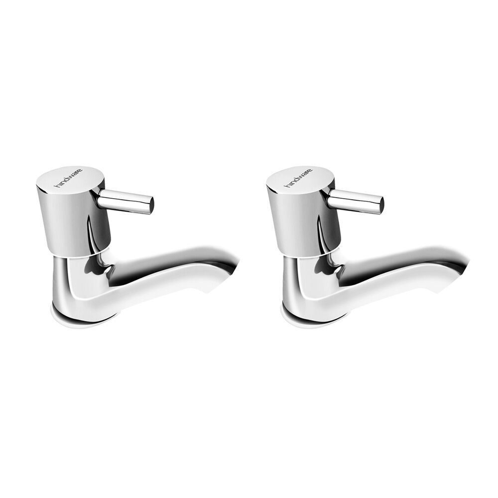 H Vitreous by Hindware Cairo H760202 Brass Pillar Cock (Chrome) Pack of 2