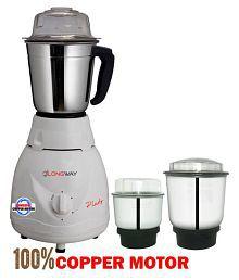 LONGWAY PLUTO PRO 600 Watt 3 Jar Mixer Grinder