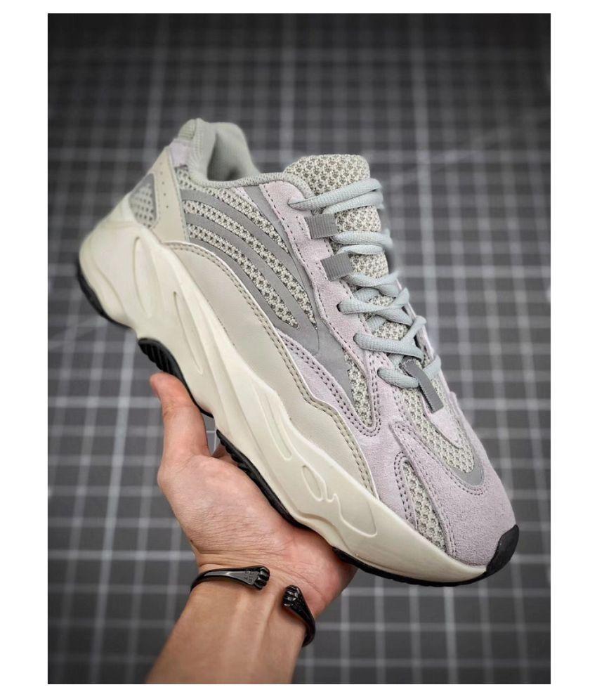 promo code c1d19 7db5d Adidas 700 V2 Static Gray Running Shoes