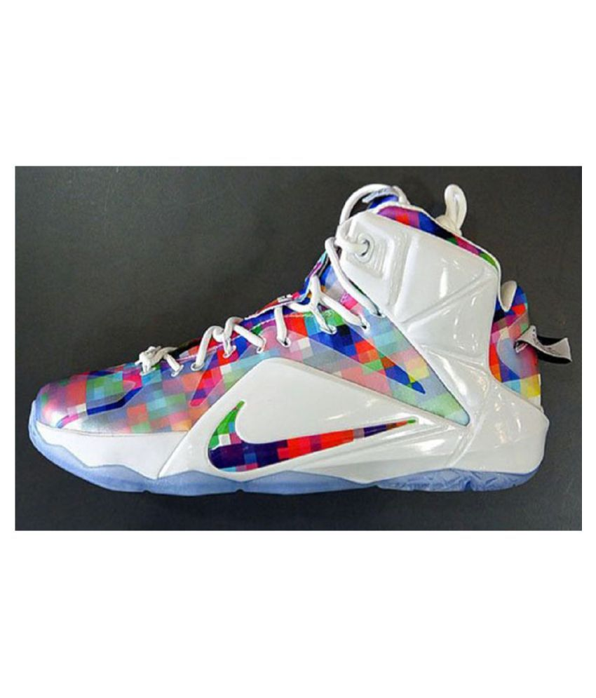 lowest price 69174 bf2b5 Nike LeBron 12 EXT Prism Running Shoes Multi Color