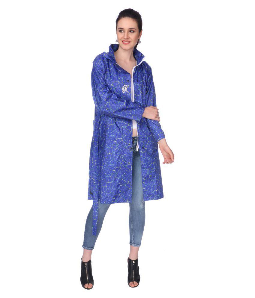 Goodluck Nylon Short Rainwear - Blue