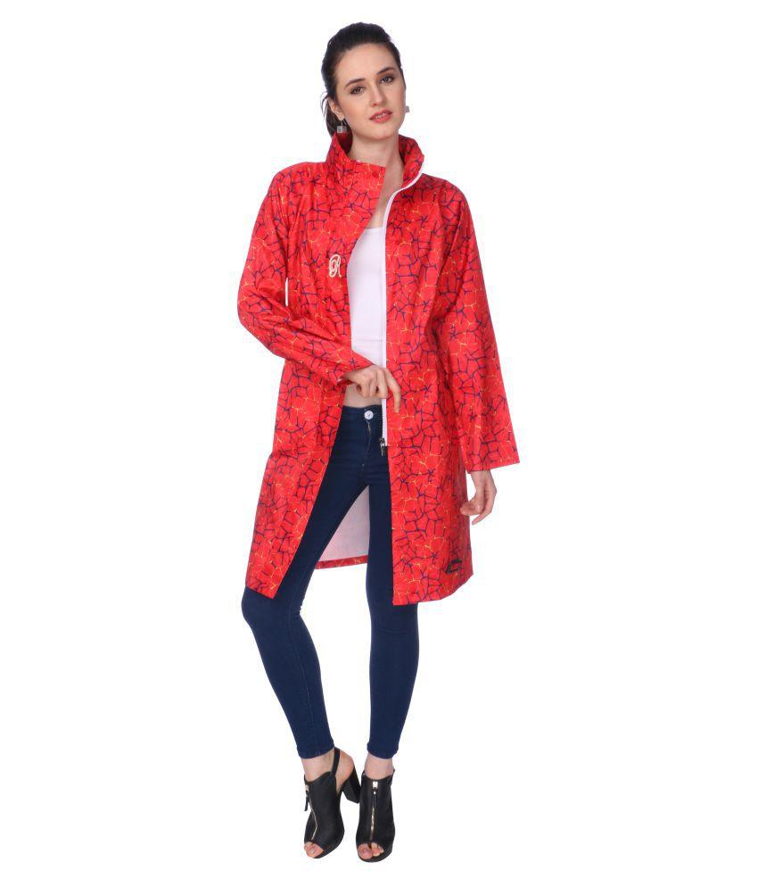 Goodluck Nylon Short Rainwear - Red