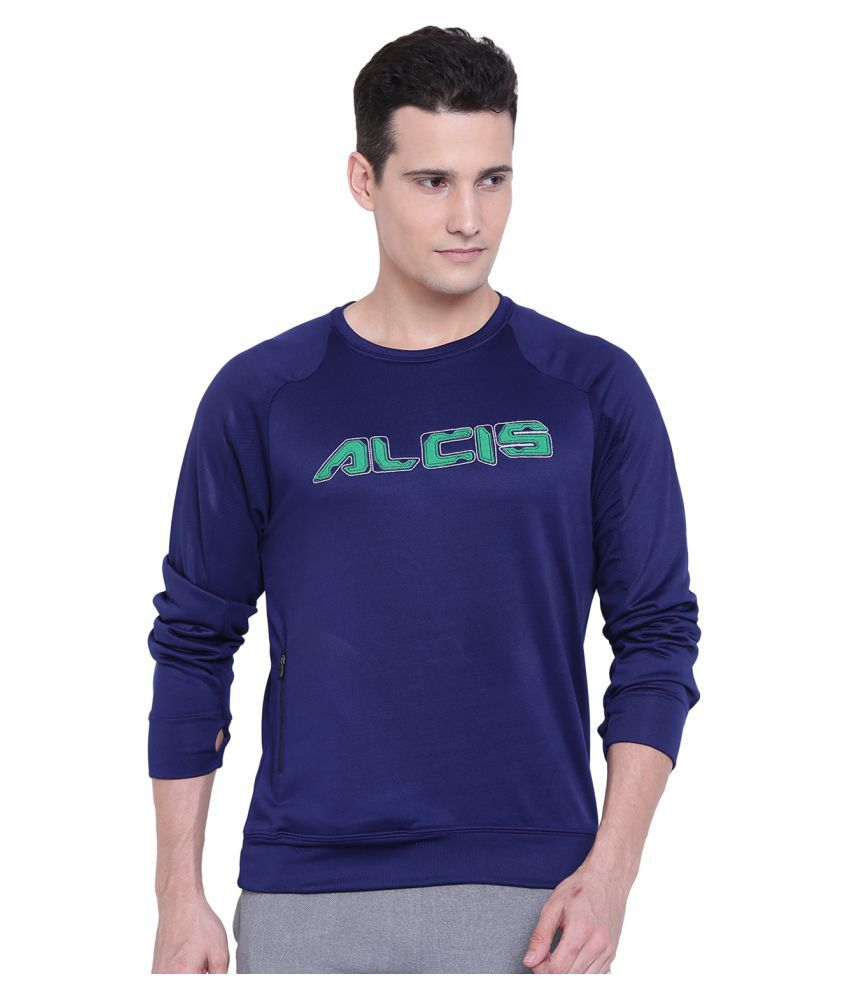 Alcis Navy Polyester Terry Sweatshirt Single Pack
