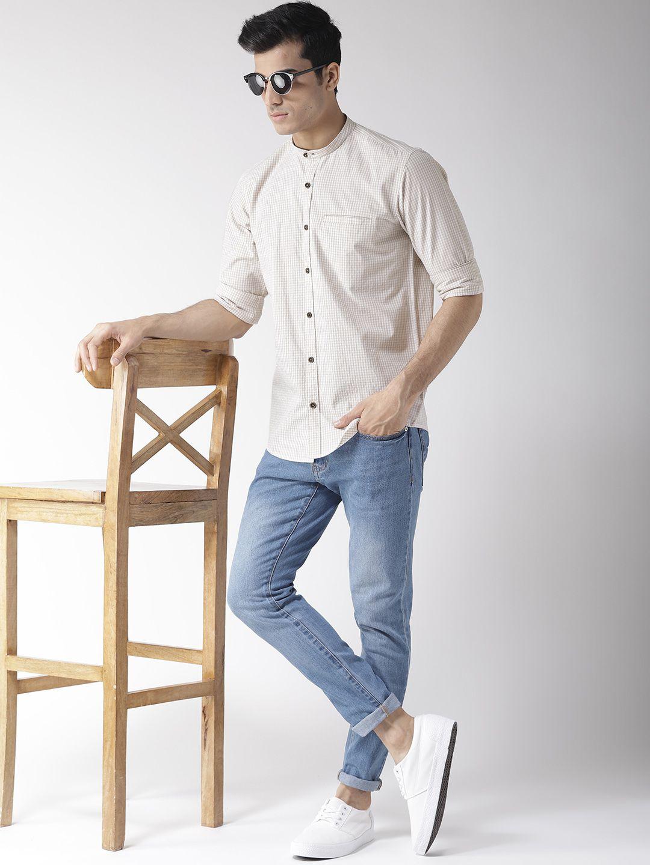 Richlook 100 Percent Cotton Brown Checks Shirt