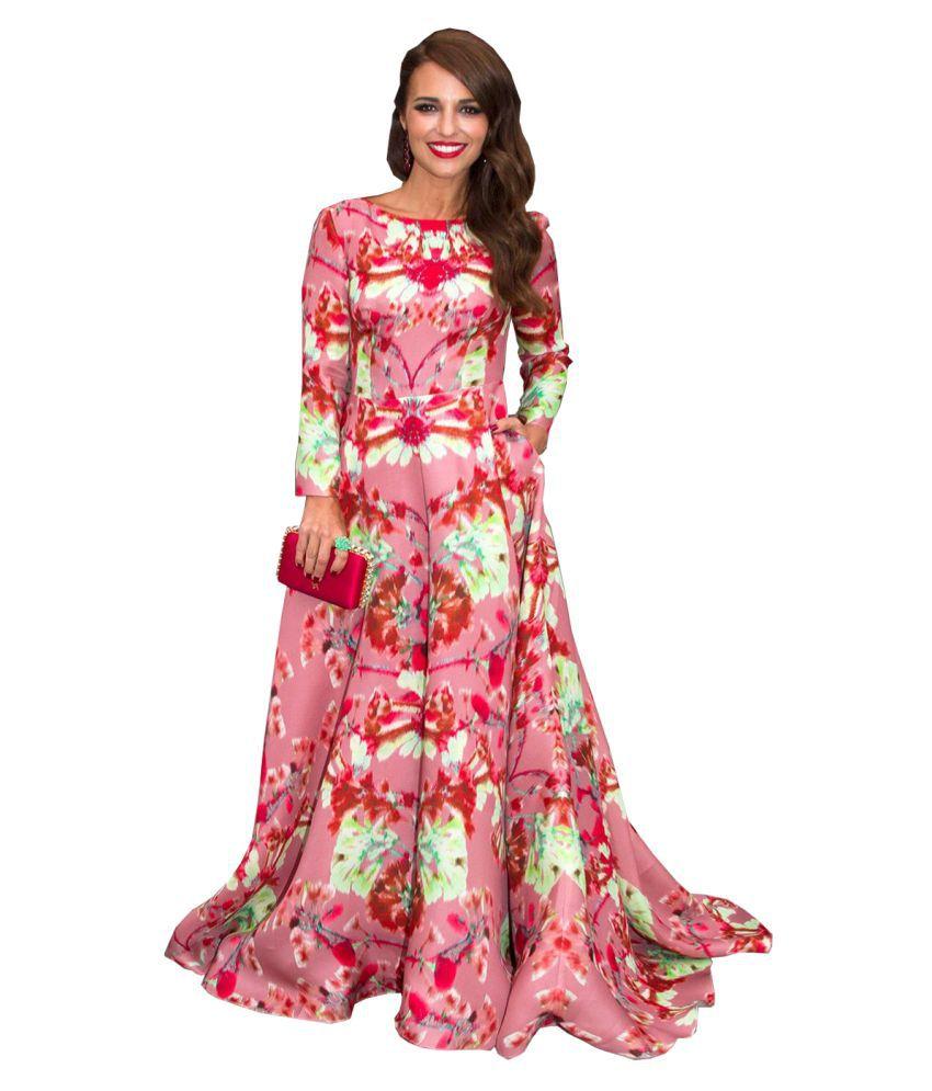 Ritsila Poly Cotton Pink A- line Dress