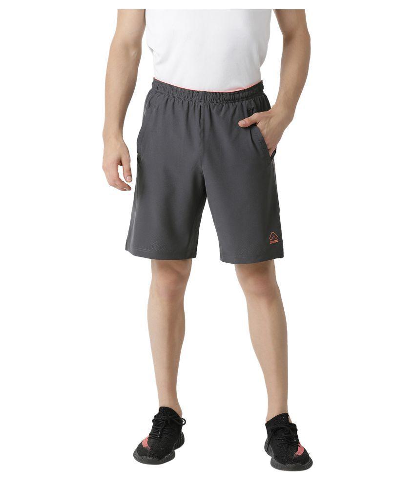 Aurro Sports Orange Shorts